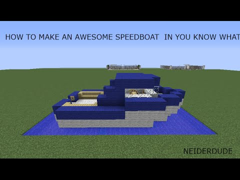How To Make An Awesome Speed Boat in Minecraft - YouTube