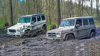 ГЕЛИКИ против УАЗов - G500 против G63 AMG!  МАЖОР против МУЖИКОВ