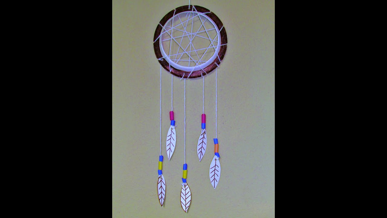 How Make A Paper Plate Dreamcatcher Youtube