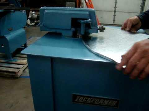 SOLD Lockformer Used 16 Gauge Sheet Metal Auto Guide Power Flanger