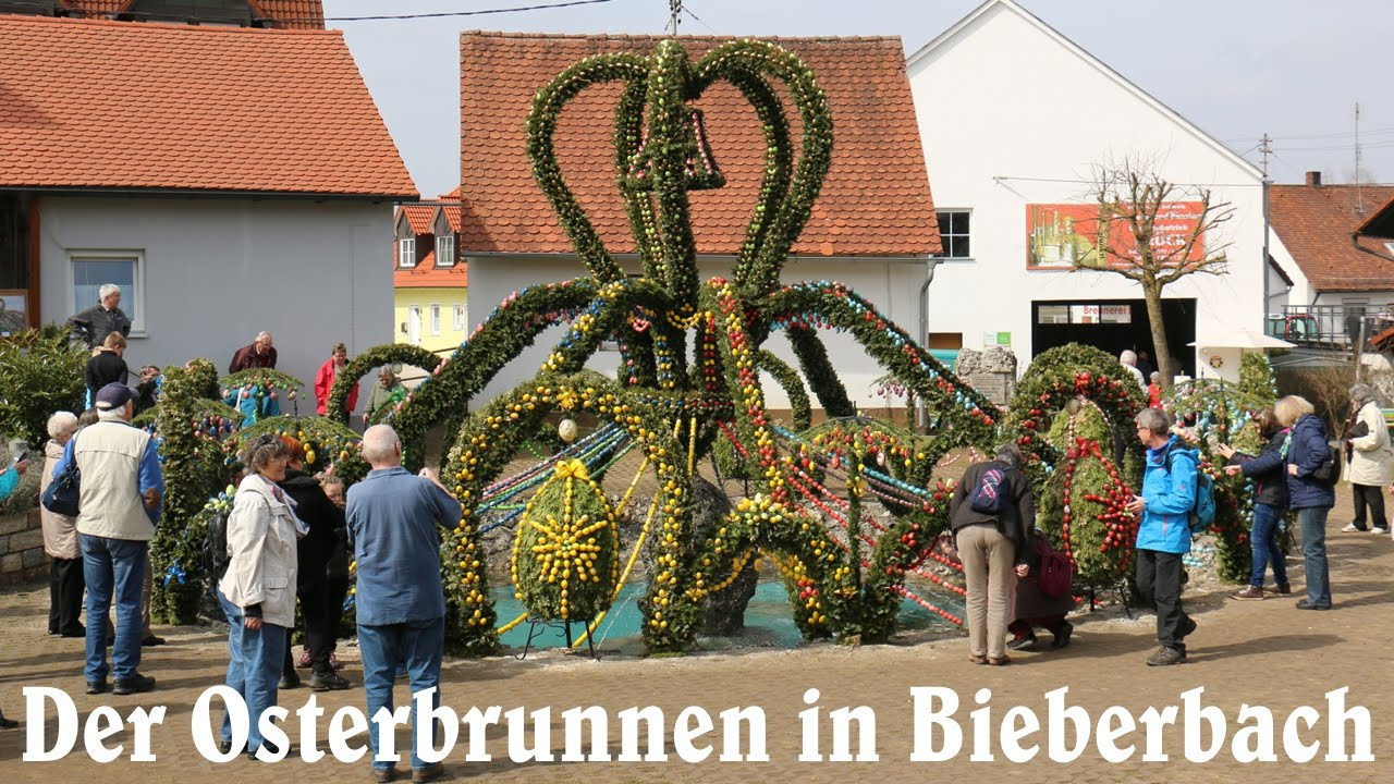 der osterbrunnen in bieberbach fo youtube. Black Bedroom Furniture Sets. Home Design Ideas