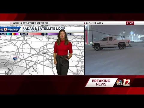 WATCH: Snow accumulating quickly across the Triad