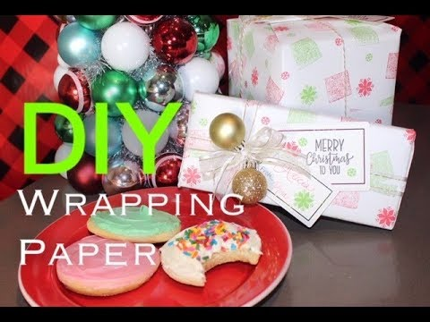 DIY Wrapping Paper (Super Easy!)