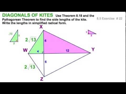 85 Kites Diagonals Angles 5 Exercises Youtube