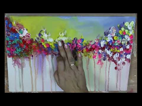 We draw fingers acrylic on canvas The most simple technique in drawing Everyone can