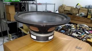 Dusty old bass subwoofer excursion