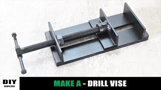 Make A Metal Mini Drill Vise | How To Make Metal Vise | DIY Homemade Vise