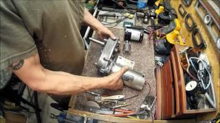 how to build a winch from a treadmill and an ice maker part 1