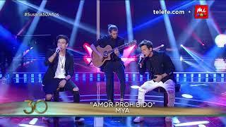 """MYA: Maxi Espíndola y Agus Bernasconi cantan """"Amor Prohibido"""" y """"Día y Noche"""" - Susana Giménez 2017"""