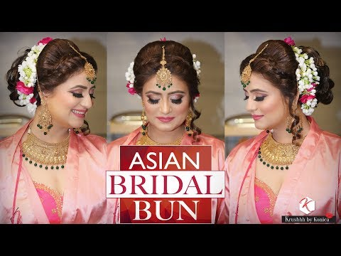 Asian Bridal Bun Hairstyle | Step by Step Indian Bridal Bun | Krushhh by Konica thumbnail
