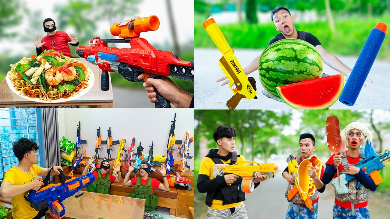 Top 10 Video Nerf Competition Nerf Guns Robbers Groun in 2020 Compilation Battle Nerf War