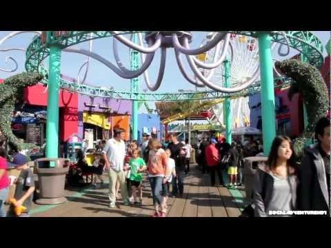 Tour of Santa Monica Pacific Park Pier - Amusement Park & Pier Tour in HD