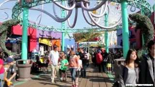 Tour of Santa Monica Pacific Park Pier - Amusement Park & Pier Tour in HD