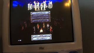 Playing Diablo 2 on an iMac G3 and low video settings