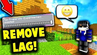 HOW TO REMOVE LAG ON MCPE PVP SERVERS! (MCPE Skywars)
