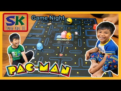 Can Pacman Eat All The Coins Before The Ghosts Get Him? | Family Game Night