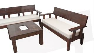 Stylish Looking Wooden Sofa Set For Your Living Room | Made To Order Furniture