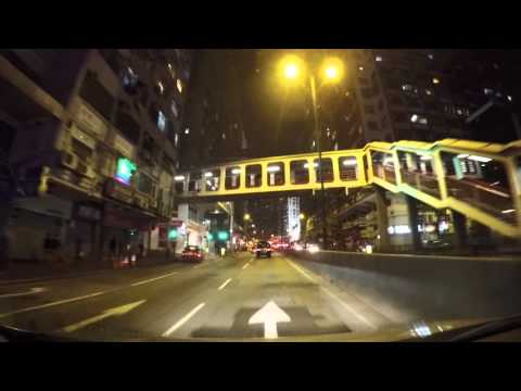Night Drive in Hong Kong Island