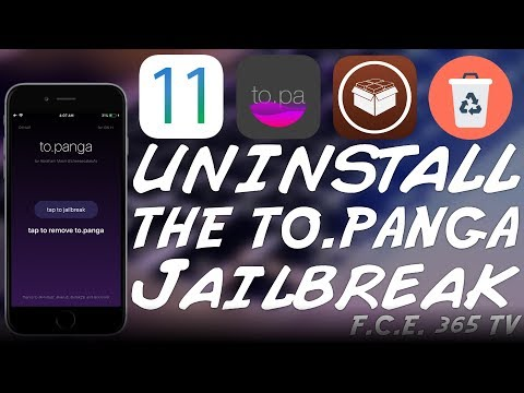 iOS 11.x How to Remove To.Panga Jailbreak (For Electra Jailbreak With Cydia)