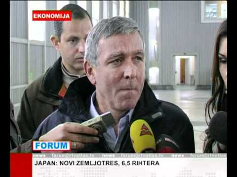Atlas TV news, EPCG, Moraca hydropower  plant,  Montenegro, March 2011