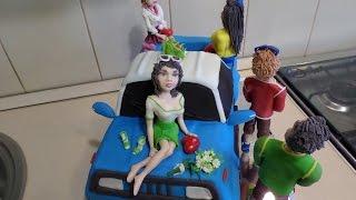 Торт машина пикап - торт  Сникерс !