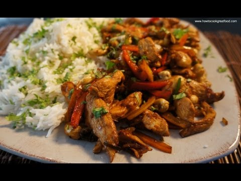 Chicken & Cashew Nut Stir Fry Recipe Asian Easy To Cook Food Soy Sauce