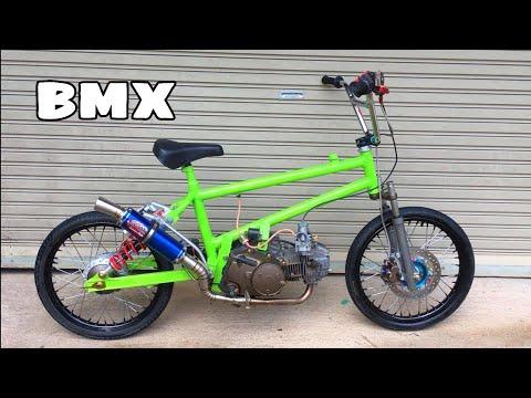 BMX cub จักรยานติดเครื่องเวฟ 125 ลูก59/0 รถจ่าเฉย