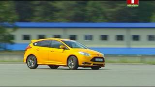 Тест-драйв Ford Focus ST --- Gymkhana.  Коробка передач