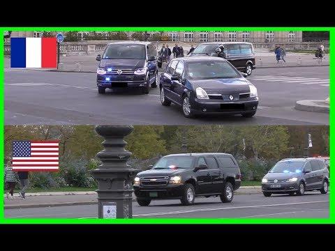 French Defense Secretary Vs US Defense Secretary Convoy In Paris