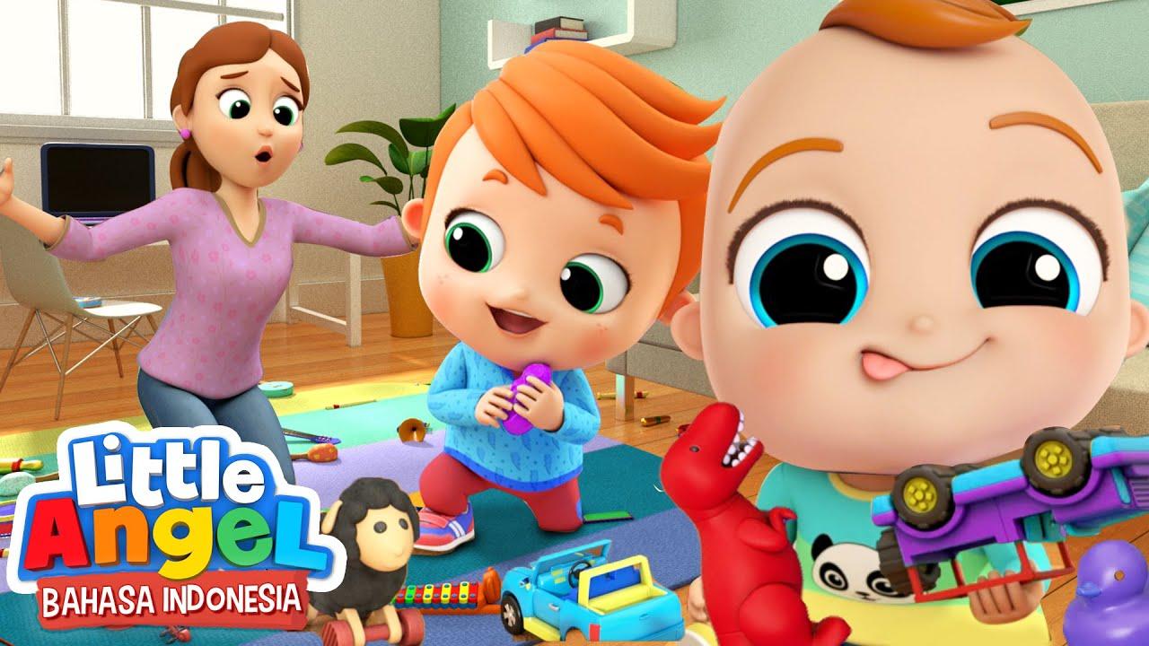 Ayo Simpan Mainan di Tempatnya!   Kartun Anak   Little Angel Bahasa Indonesia