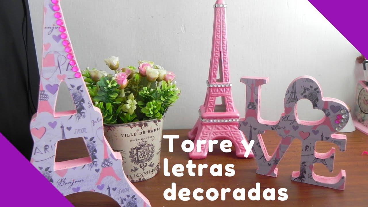 Detalles Para Mesa De Postres De Paris Letras Y Torre De Madera