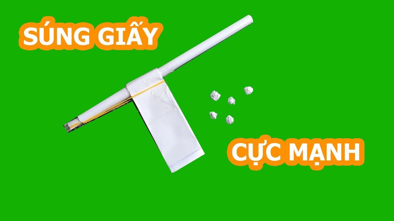 Cách làm súng giấy bắn đạn cực mạnh | How to make paper gun | TGT