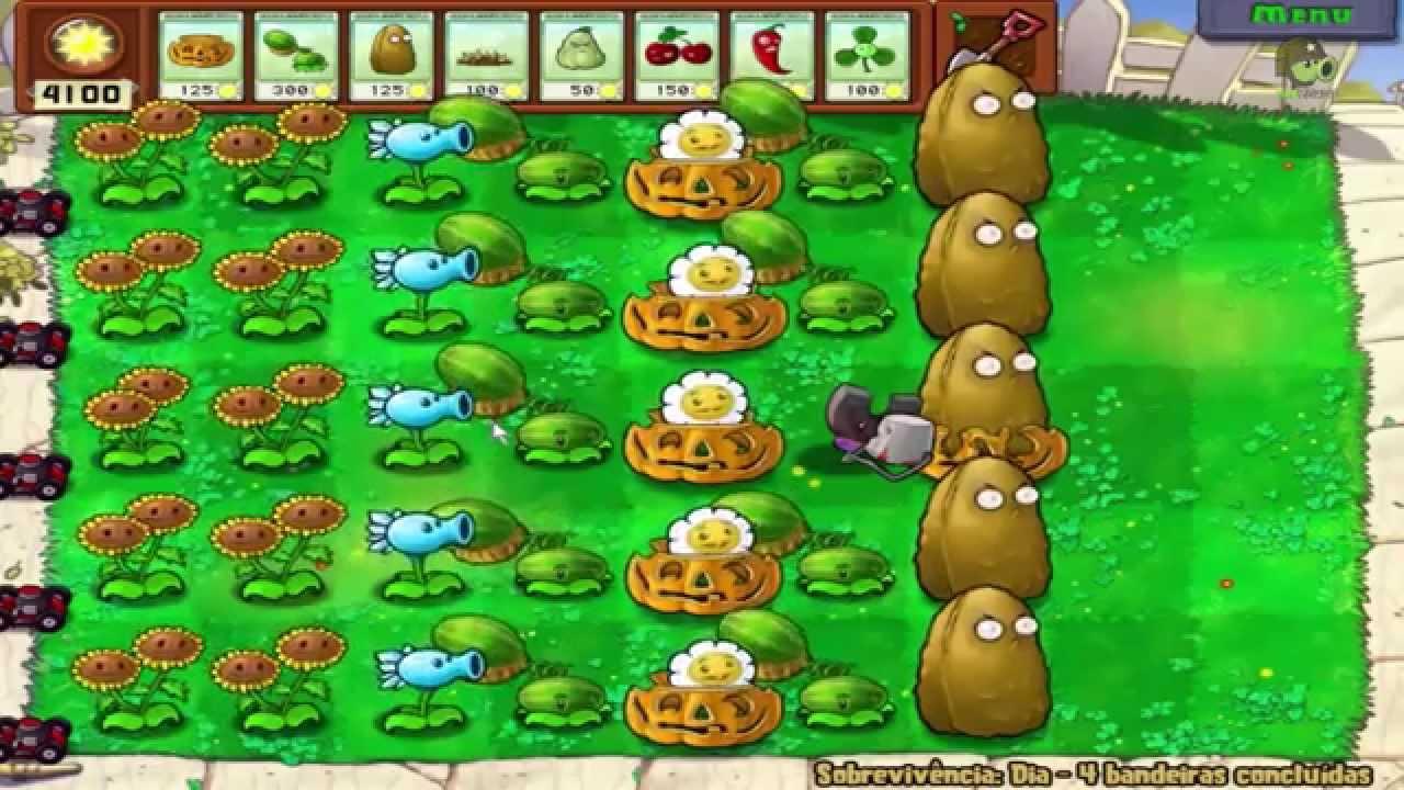 vamos jogar plants vs zombies sobrevivÊncia dia youtube