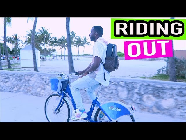 Krypto Riding a Bike at the Beach