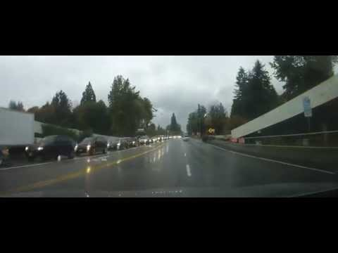 Driving from North Vancouver to Squamish, British Columbia Canada on highway 99