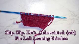 How to Increase and Decrease in Knitting [M1,kf &b, ssk, k2tog] Part 2