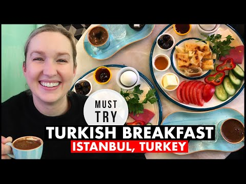 Trying Turkish Breakfast in Istanbul, Turkey