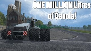 Farming Simulator 15 - 1100 HP Tractor Hauling One Million Litres of Grain! - Part 2