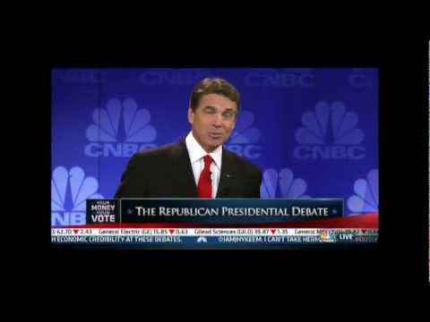 Embarrassing Catastrophic Moment for Rick Perry- Forgets What He Wants To Say At Presidential Debate