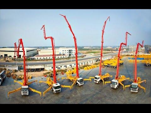 Самый большой автобетононасос в мире - 101 метр
