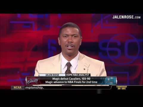 Cavs vs Magic Game 6 2009 NBA Playoffs - 5/30/09 - Jalen Rose Analyzes on ESPN