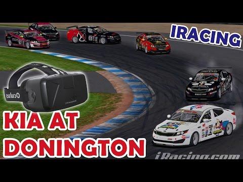 iRacing - Kia at Donington, Fuel save race! (Oculus Rift DK2)