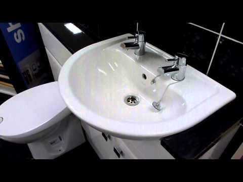 Vitra Layton semi recessed basin and BTW pan at Homecare Supplies Darlington.MOV