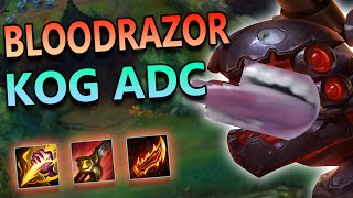 BLOODRAZOR KOG'MAW ADC IS BROKEN - League of Legends Commentary