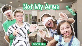 NOT MY ARMS Cooking Challenge!! GIRLS Vs. BOYS!! Bro Vs. Sis