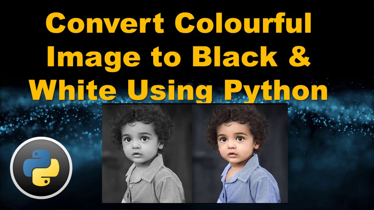 Convert Colourful image to black and white using python