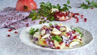 Фруктовый салат с пекуинской капустой
