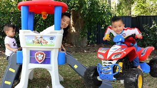 PAW Patrol Playtime Fun Ride On Fire Truck Compilation CKN