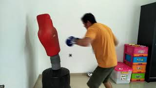 How to punching hard on dummy bag on funny way