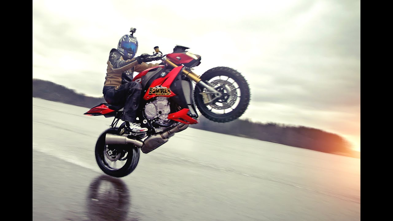 Riding On Ice At Bmw S1000r Youtube